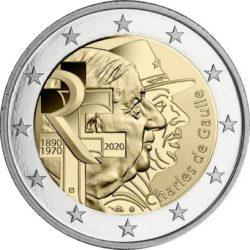 2 евро, Франция (Шарль де Голль)