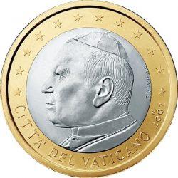 1 евро, Ватикан (тип 1)