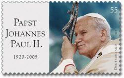 Почтовая марка в честь Иоанна Павла II (Германия, 2005 г.)