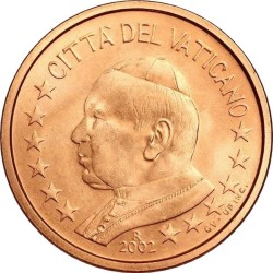 1 евроцент, Ватикан (тип 1)