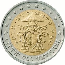 2 евро Ватикана (тип 2)