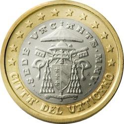 1 евро Ватикана (тип 2)