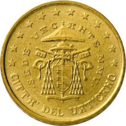 10 евроцентов Ватикана (тип 2)