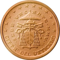 2 евроцента Ватикана (тип 2)