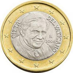1 евро Ватикана (тип 3)