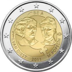 2 евро, Бельгия (100 лет Международному женскому дню)