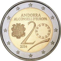 2 евро, Андорра (20-летие вступления Андорры в Совет Европы)