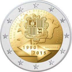 2 евро, Андорра (25-летие подписания таможенного соглашения с Евросоюзом)