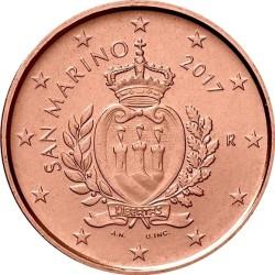 1 евроцент, Сан-Марино (тип 2)