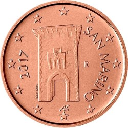 2 евроцента, Сан-Марино (тип 2)