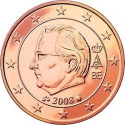 1 евроцент Бельгии (тип 2)