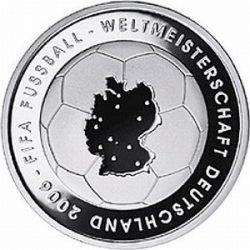 10 евро, Германия (1-я монета серии «Чемпионат мира по футболу 2006»)