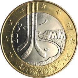 5 евро, Финляндия (Чемпионат мира по хоккею с шайбой 2003 года в Финляндии)