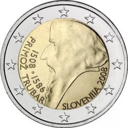 2 евро, Словения (Примож Трубар)