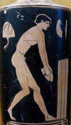 Атлет, готовящийся к прыжку (античная ваза из Селинунта, V в. до н.э.)