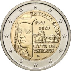 2 евро, Ватикан (500 лет со дня смерти Рафаэля Санти)