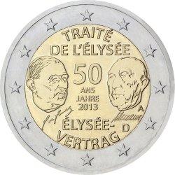 2 евро, Германия (50 лет франко-германскому договору о дружбе и сотрудничестве)