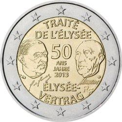 2 евро, Франция (50 лет франко-германскому договору о дружбе и сотрудничестве)