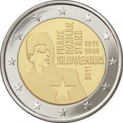 2 евро, Словения (100 лет со дня рождения Франца Розмана)