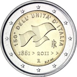 2 евро, Италия (150-летие объединения Италии)