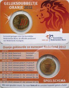 10 cent Netherlands 2012 coincard