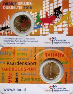 10 cent Netherlands 2016 coincard