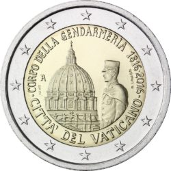 2 евро, Ватикан (200-летие папской жандармерии)