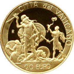 20 евро, Ватикан (Давид и Голиаф)