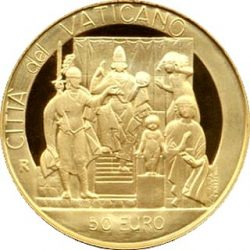 50 евро, Ватикан (Суд Соломона)