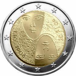 2 евро, Финляндия (100-летие введения в Финляндии всеобщего равного избирательного права)