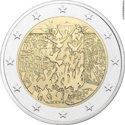 2 евро, Франция (30-летие падения Берлинской стены)