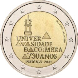2 евро, Португалия (730-летие университета Коимбры)
