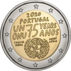 2 евро, Португалия (75 лет ООН)