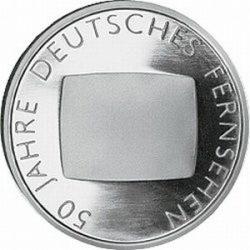10 евро, Германия (50 лет немецкому телевидению)