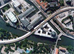 Вид Музейного острова с воздуха