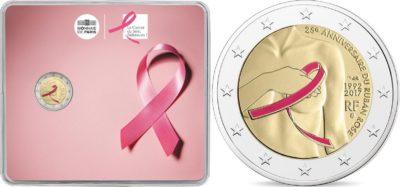2 euro France 2017 Pink ribbon