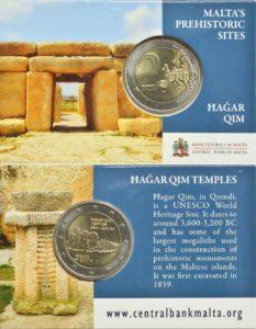 2 euro Malta 2017 Hagar Qim Coincard