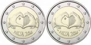 2 euro malta 2016 love