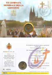 2 euro vatican 2005 Philatelic-Numismatic Cover