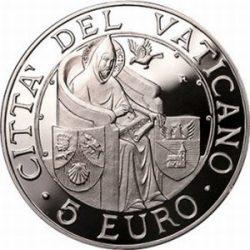5 евро, Ватикан (Международный день мира)