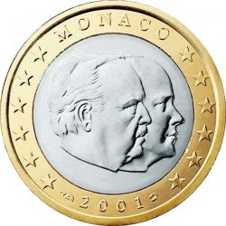 1 евро, Монако (тип 1)