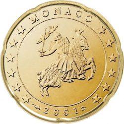 20 евроцентов, Монако (тип 1)