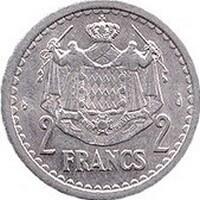 Монета Монако с изображением герба династии Гримальди