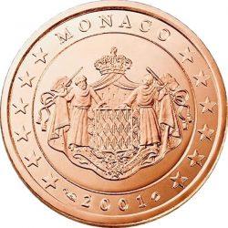 1 евроцент, Монако (тип 1)