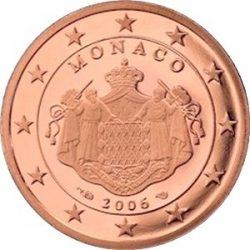 2 евроцента Монако (тип 2), аверс