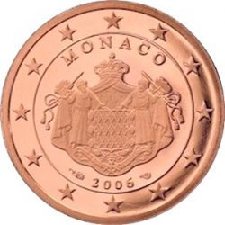1 евроцент Монако (тип 2), аверс