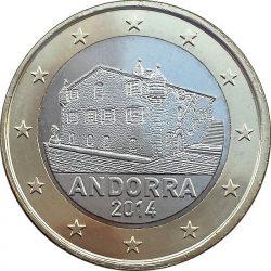 1 евро Андорры, аверс