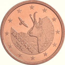 2 евроцента Андорры, аверс