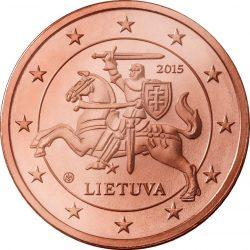 2 евроцента Литвы, аверс