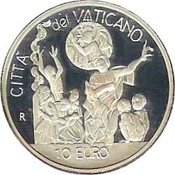 10 евро, Ватикан (День мира во всём мире)
